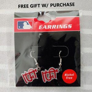NEW NWT Silver STL Cardinals Earrings MLB + GIFT